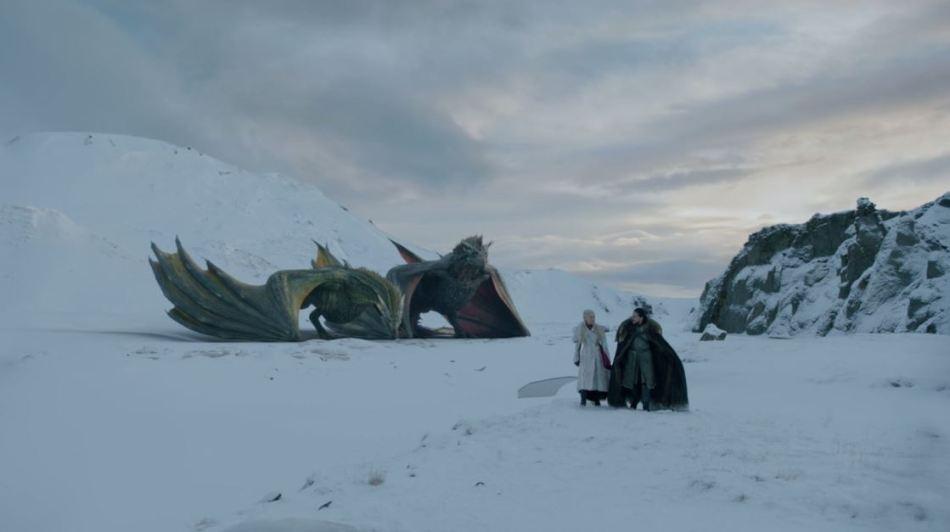 Jon and Daenerys and Dragons