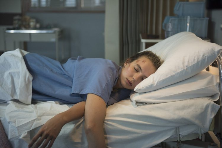 Villanelle asleep hospital